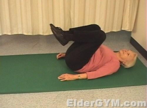 Bent knee raise end