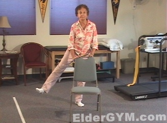 Hip side raise movement position