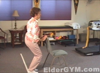 Hip Flexibility For Seniors And The Elderly Partial Squats Eldergym
