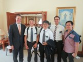 Missionaries with Elder Toronto (an Area Authority)