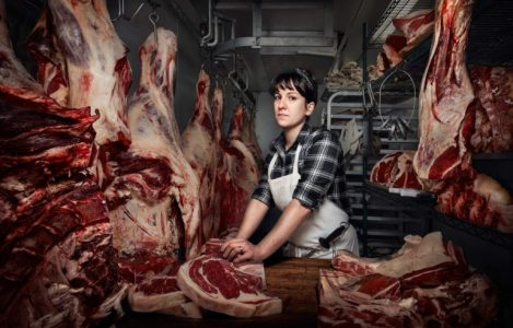 """""""Heather Marold Thomason is the Head Butcher at Kensington Quarters in Philadelphia. In just a few years, she shifted her career in web design and is now a force in the sustainable food movement."""""""