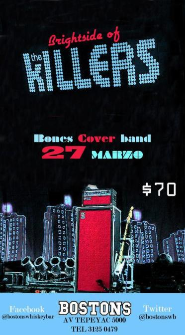 Flyer The Killers tributo