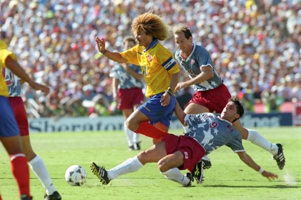 Colombia enfrentó a Estados Unidos en el mundial de 1994, un partido decisivo.