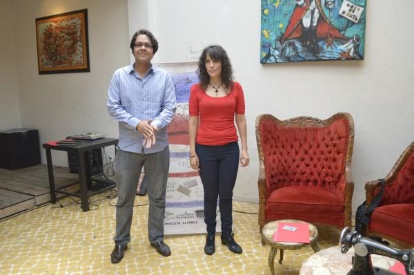Jorge Verdín y Maricarmen Camarena durante la rueda de prensa.