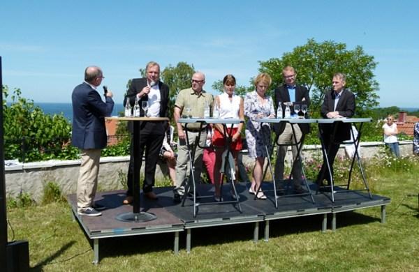 Políticos suecos participando en Almedalen de 2012