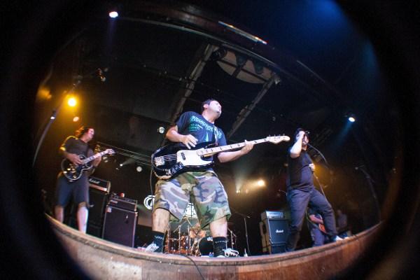 Lagwagon durante un concierto en 2013. Foto: Livepix.