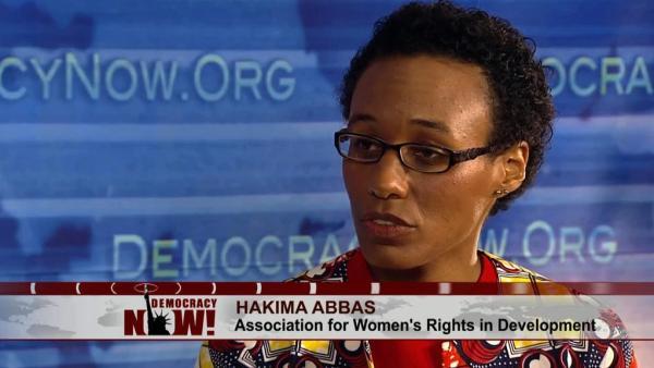 Hakima Abbas en entrevista para Democracy Now!