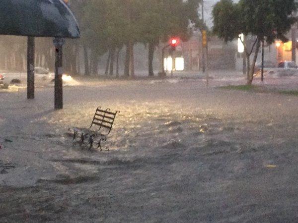 Guadalajara inundándose.