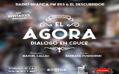 el Ágora – Diálogo en cruce – Domingos de 11 a 13 hs en Radio Grafica FM 89.3📻.