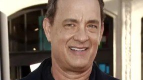 """Cast member Tom Hanks arrives at the premiere of """"Larry Crowne"""" in Los Angeles, Monday, June 27, 2011. """"Larry Crowne"""" will be released on July 1.  (AP Photo/Matt Sayles)"""