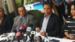 Edward Montás habló en rueda de prensa. Foto: @Telenoticiasrd
