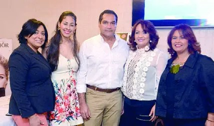 Haidee Marte, Yimelka Almonte, Ramón del Rosario, Yanira Vicioso y Mayra Vicioso.