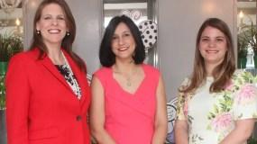 Carolina Gietz, Margarita Heinsen y   Victoria Martínez.