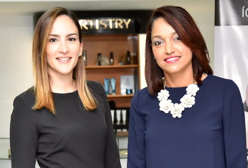 Yolanda Linares y Lorendy Báez.