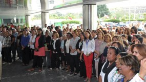 La conmemoración del Día Internacional de la Mujer reunió al personal del Ministerio de Salud y sus principales autoridades.