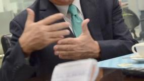 Invitados al coloquios del periódico el Día, el señor Antonio Tavares Guzmán presidente de la  Asociación de Empresas Industriales de Herrera y Provincia Santo Domingo, Inc./foto José de León