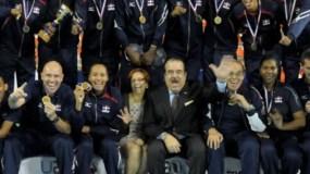 Equipo dominicano de voleibol que enfrenta hoy a Argentina.