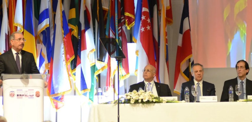 El presidente Danilo Medina habla ante 120 líderes internacionales reunidos en la XXXIV Conferencia para el Control de Drogas.