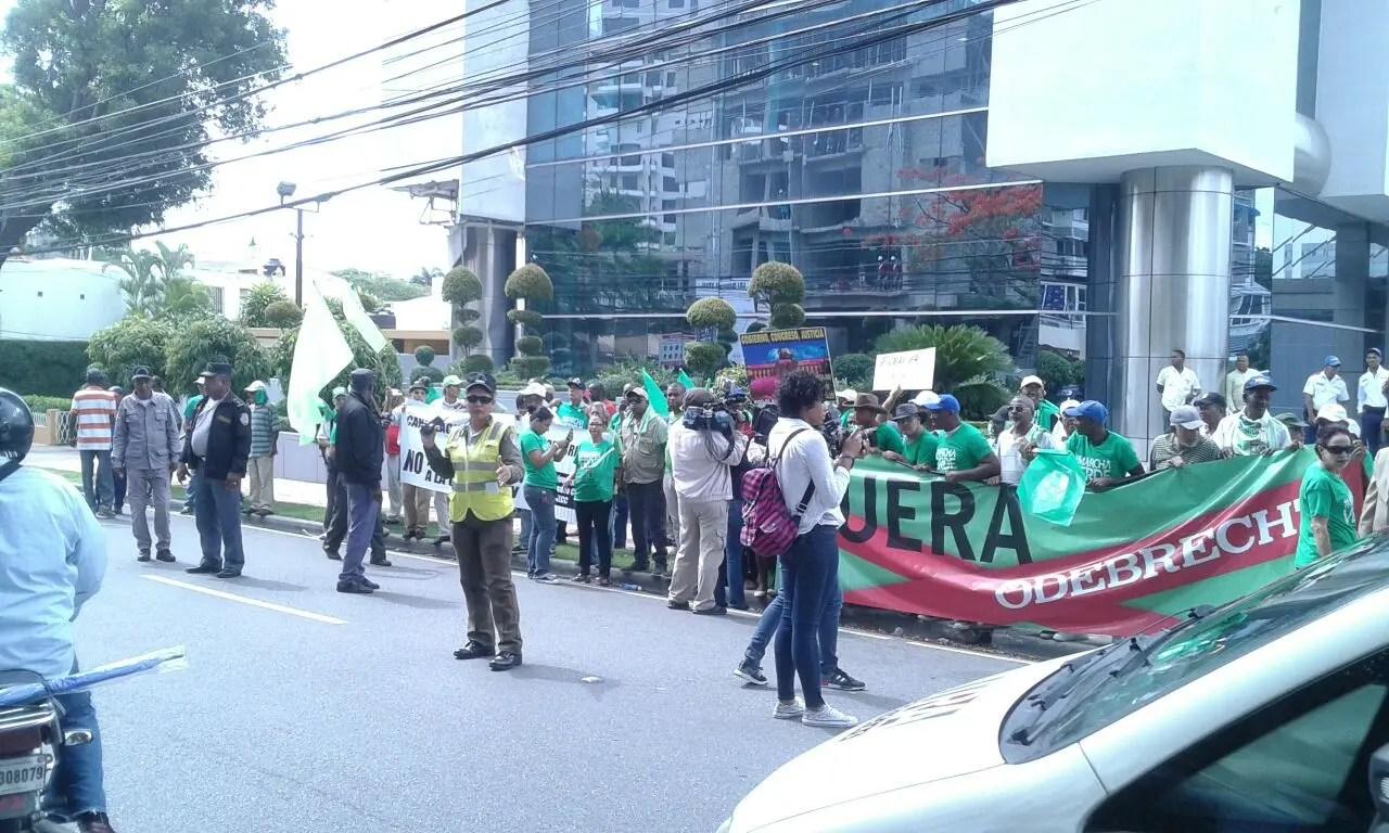 Colectivo dominicano Marcha Verde reclama salida de Odebrecht del país