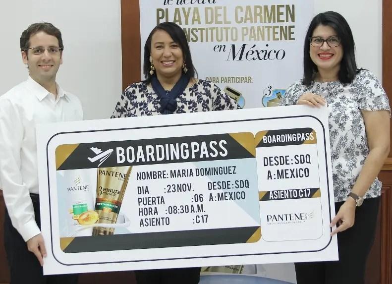 Antonio González, María Domínguez y Naycell Rodríguez.
