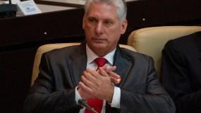 El  presidente de Cuba, Miguel Díaz-Canel. AP