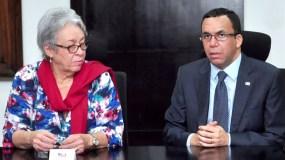 Altagracia Guzmán Marcelino y Andrés Navarro encabezaron un encuentro entre los equipos técnicos de trabajo de las dos instituciones.