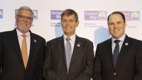 José Pedro Ferrao, Rick Waugh y Robert Williams, en la presentación de la entidad.