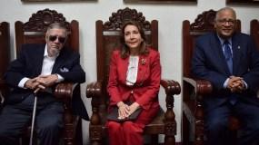 Delio Gómez Ochoa, Francis Pou y Rafael Pérez Modesto.
