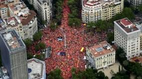 Los manifestantes piden la libertad de los separatistas.