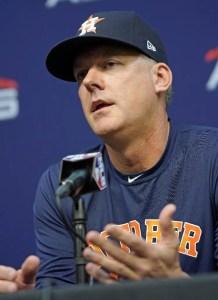 A.J. Hinch, mánager Astros de Houston.