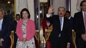 Medina habló del plan en el Palacio nacional.  JOSÉ DE LEÓN