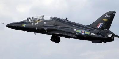 BAE Hawk T1 de la RAF, el mismo modelo del avión siniestrado.