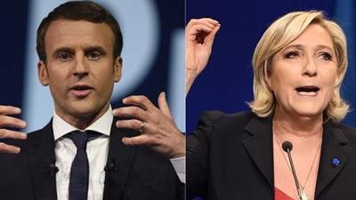 Marcon y Le Pen se adjudican primera vuelta en elecciones en Francia
