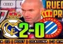 Rueda de prensa de Zinedine Zidane tras el partido ante el RCD Espanyol