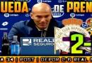 Rueda de prensa de Zinedine Zidane tras el partido ante el Deportivo