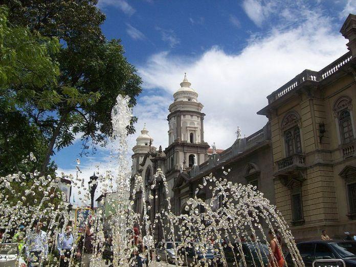 La plaza Bolívar de la Ciudad de Mérida