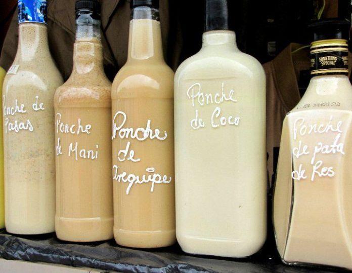 Bebidas artesanales en el corredor de las Rosas