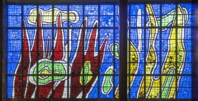 Vitral de Fernand Léger en la Biblioteca Central de la UCV