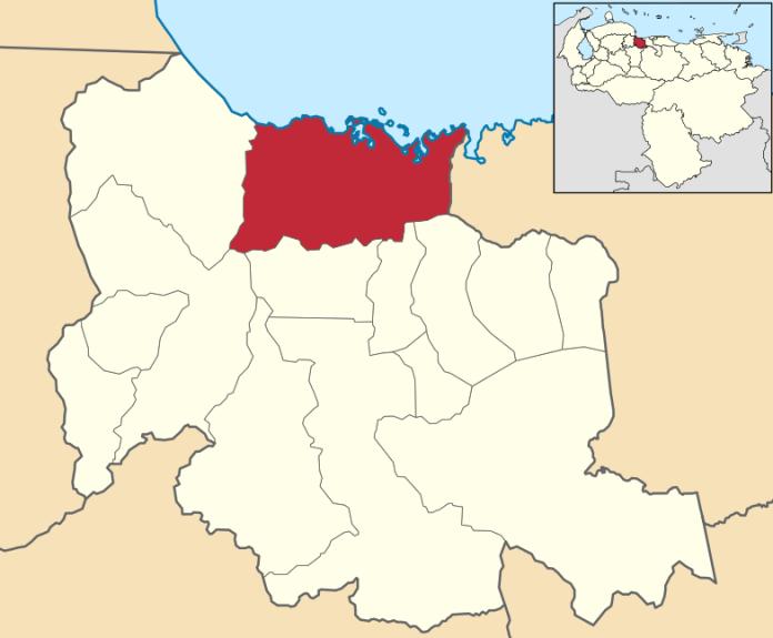 Mapa con ubicación de Puerto Cabello