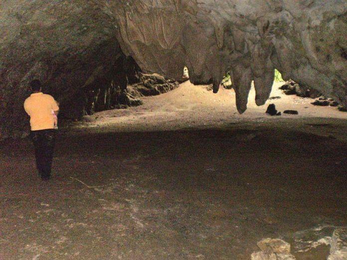 Interior de la Cueva de la Quebrada El Toro