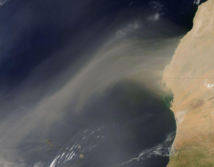 Nube de Polvo del Sahara