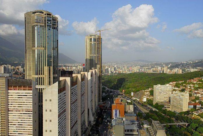 Vista de Caracas y el Parque Centra