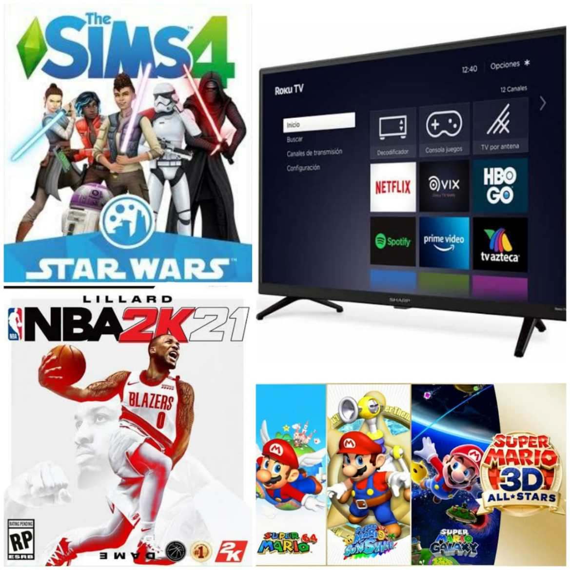 Reseña: Super Mario 3D All-Stars, Sharp Roku TV, NBA 2K21 y The Sims 4, Star Wars: Journey to Batuu