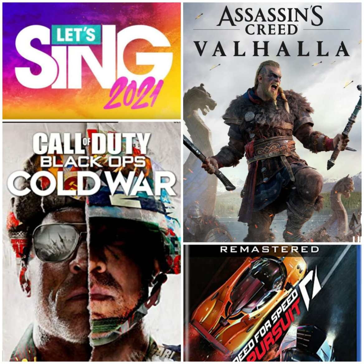 Reseña: Assassin's Creed: Valhalla, Call of Duty: Black Ops Cold War, Let's Sing 2021 y Need For Speed Hot Pursuit Remastered