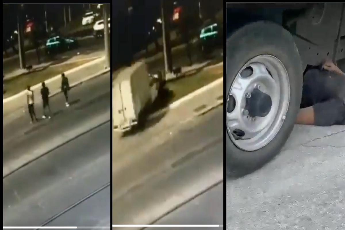 VIDEO: Víctima de robo persigue a delincuentes y los atropella; este es el momento exacto