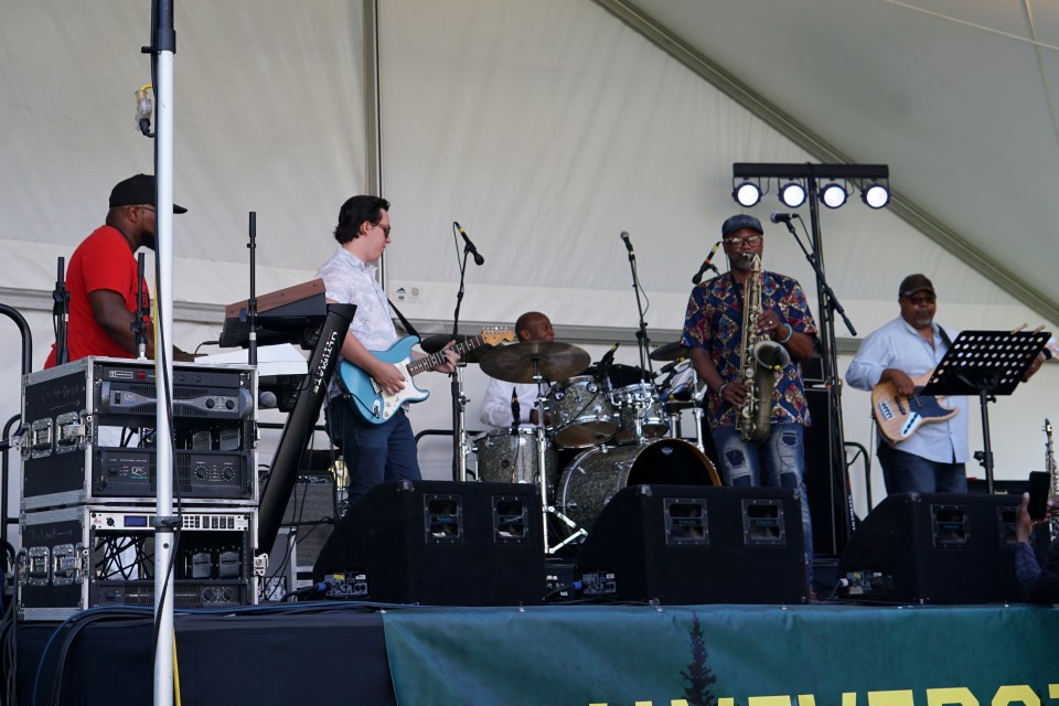 "Jonathan Schuler Guitar, Anthony Jones Drums, Eldon ""T"" Jones Tenor Saxophone"