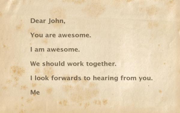 Dear John Cover Letter