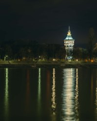 Margaret Island Water Tower at Night