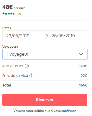 frais de service airbnb