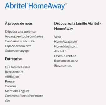 contacter Abritel HomeAway